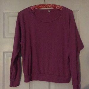 TNA pink sweater